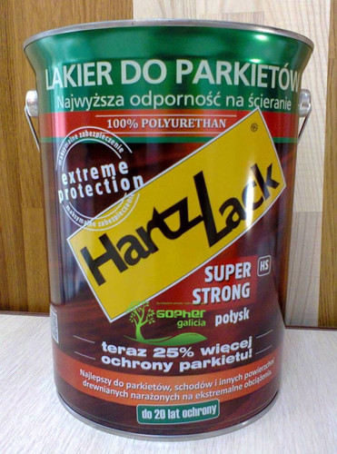 Паркетный лак HartzLack Super Strong HS 100% полиуретан 5л